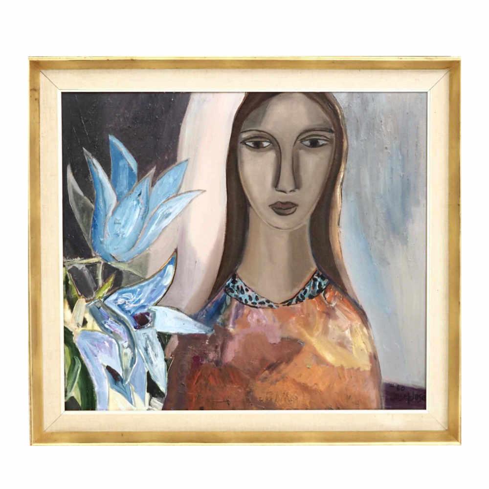 "Painting, signed ""Josef José-60"". - € 800"