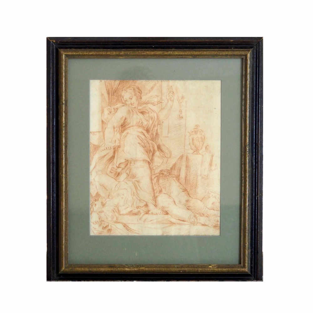 Italian red chalk drawing, 17th C. - € 1.000