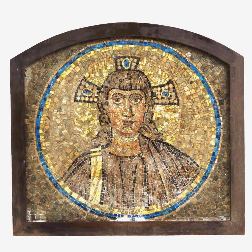 Italian mosaic of Jesus figure. - € 2.000