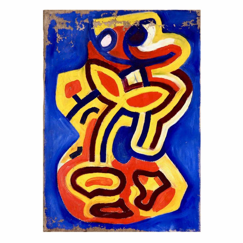 Fine Cobra painting, acryl on canvas. - € 1.500