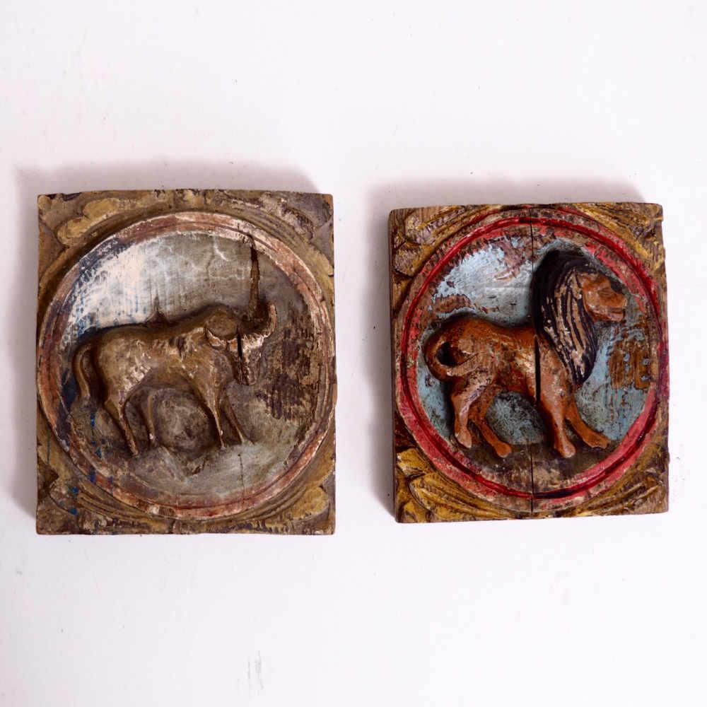 Pair of original painted reliefs, 18th C. - € 1.100