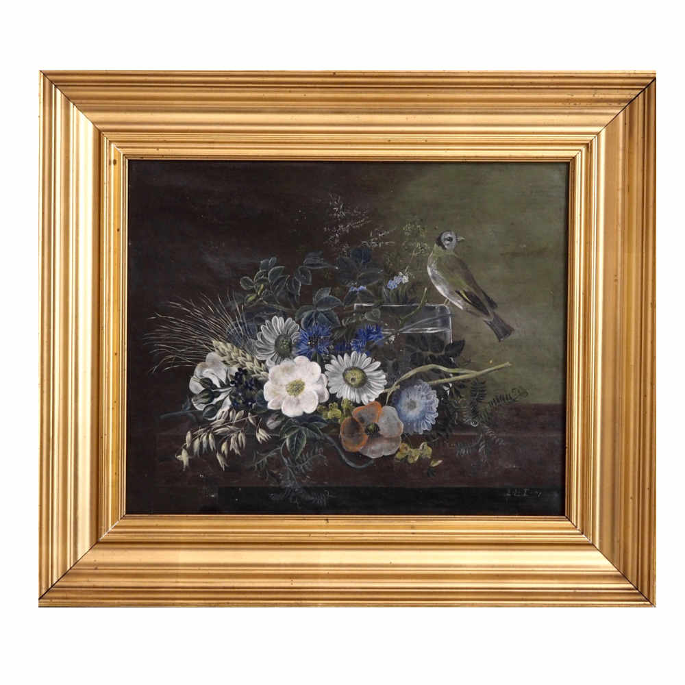 "Flower painting, signed and dated ""71"" - € 1.500"