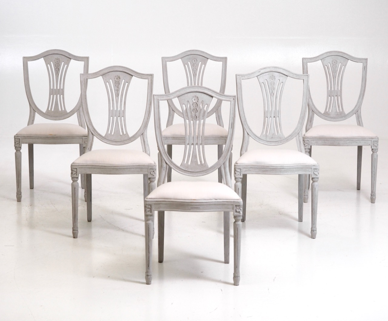 12587 6d Set Of 6 Swedish Chairs Circa 100 Years Old Selected Design Antiques