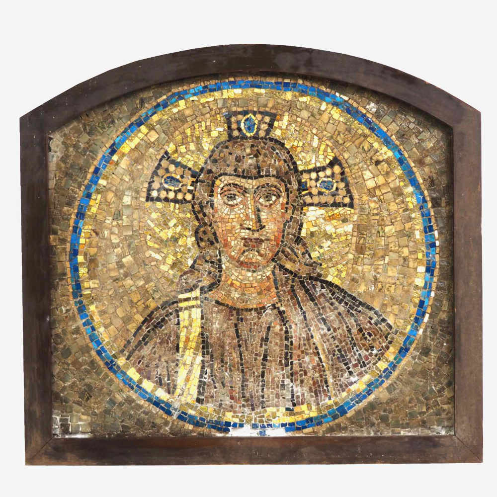 Italian mosaic of Jesus figure. - € 2.000