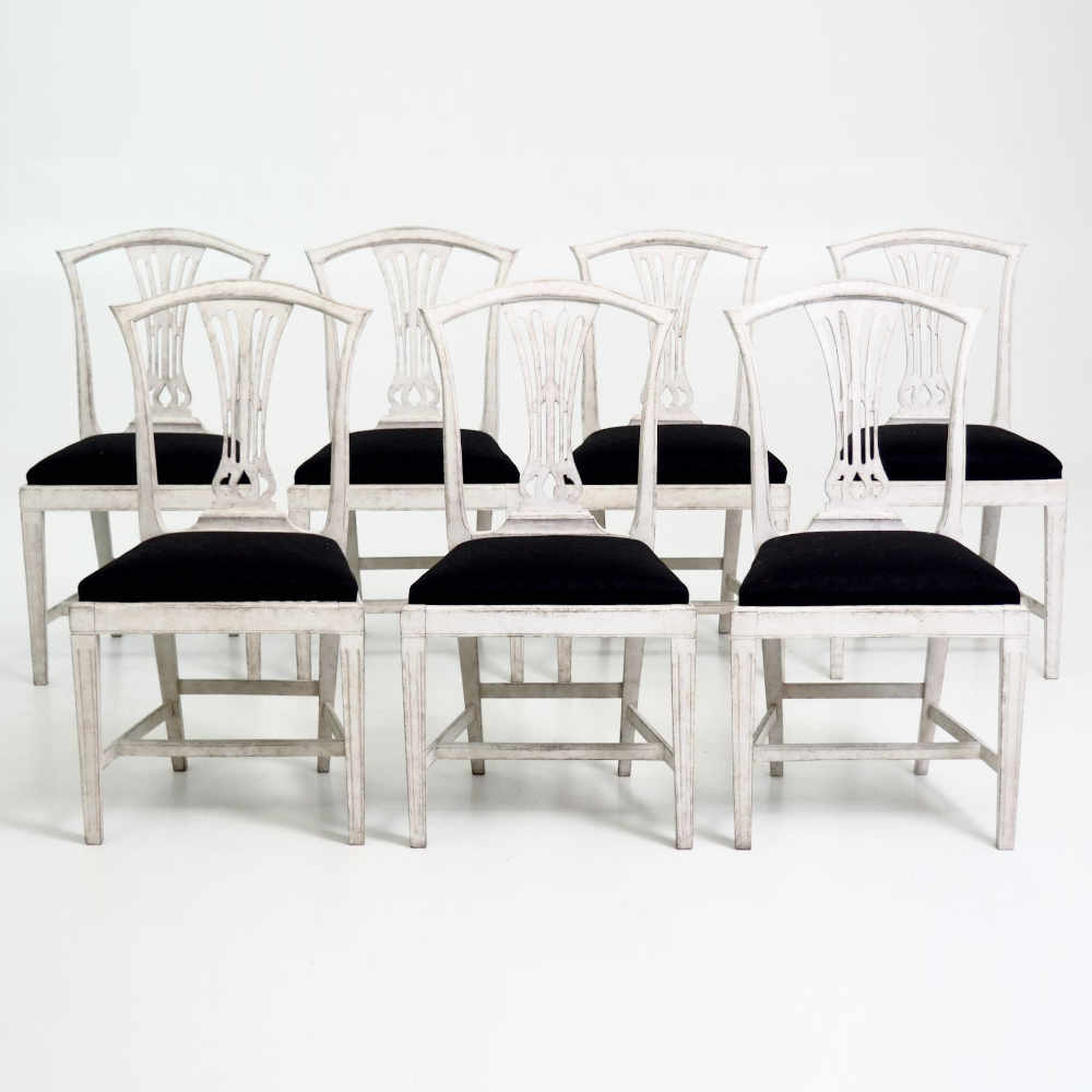 7 Swedish chairs, late 19th Century. - € 2.100