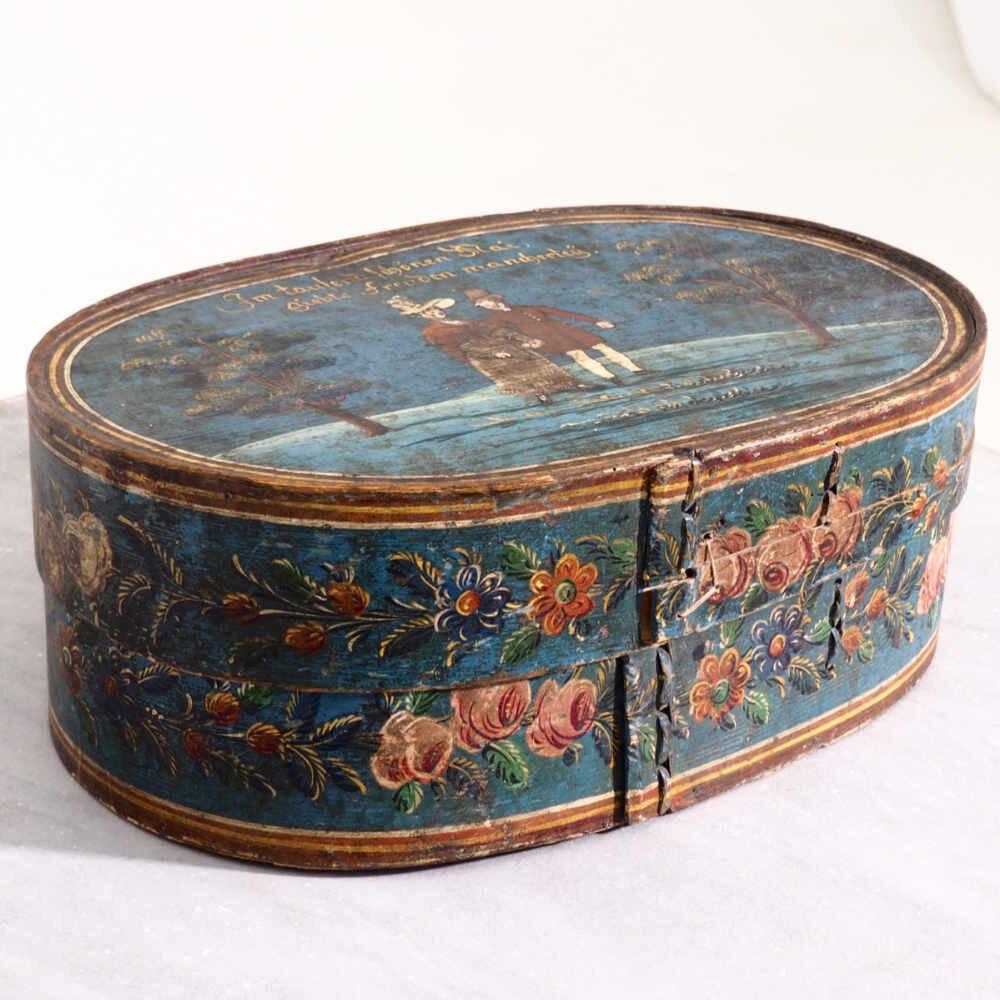 European box in original paint, 19th C. - € 1.000