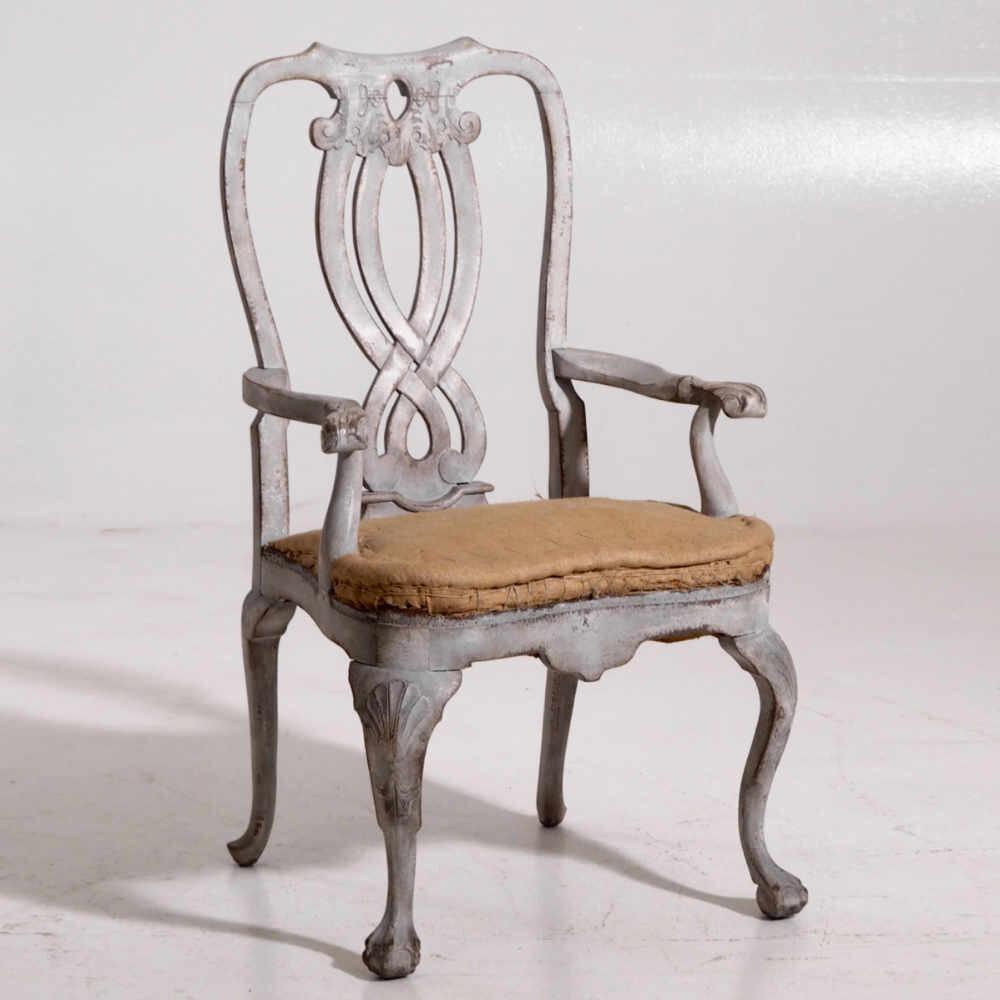 Swedish Rococo style armchair, 19th C - € 1.100