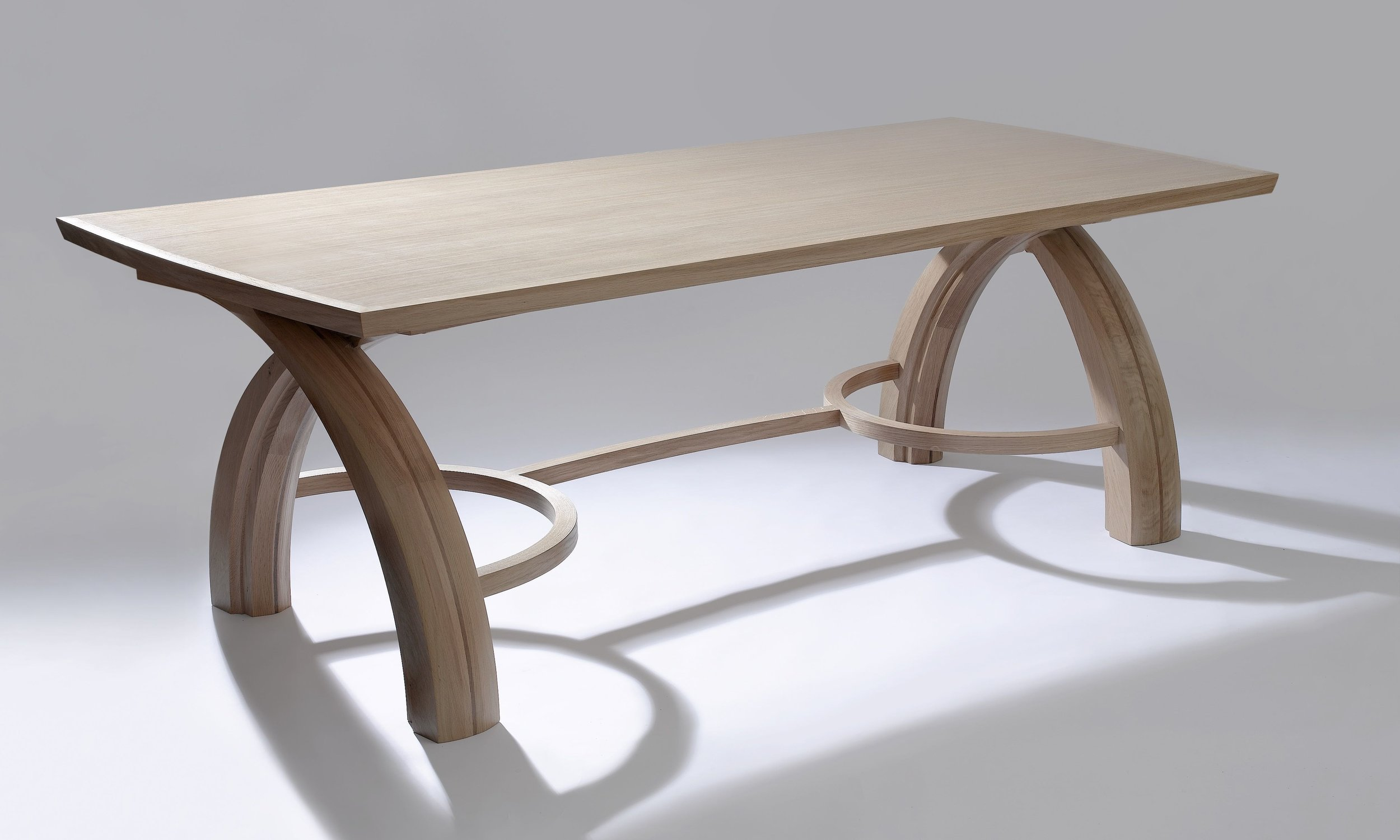 AWARD WINNING TABLE  THE SAGRADA TABLE IS ONE OF ONLY A FEW PIECES OF FURNITURE NATIONWIDE TO BE GIVEN A GUILD MARK BY THE WORSHIPFUL COMPANY OF FURNITURE MAKERS