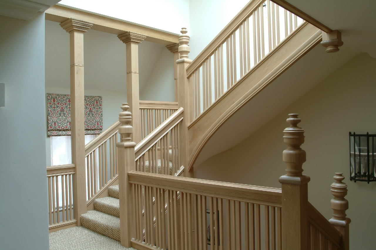 THE STAIRCASE IS PART OF OUR WORK IN A WHOLE HOUSE CONVERSION IN OXFORD