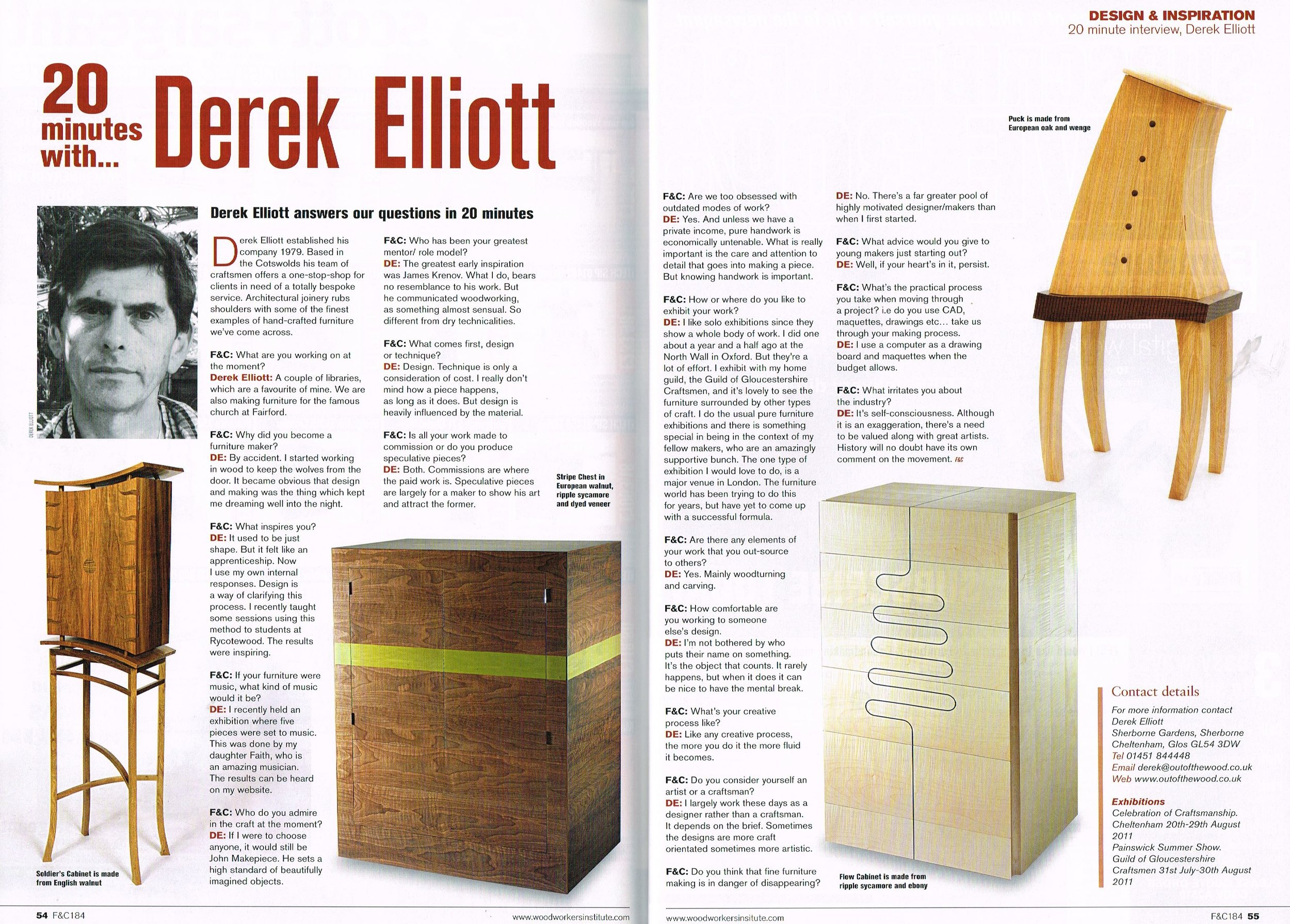 Furniture & Cabinetmaking. Oct 2011
