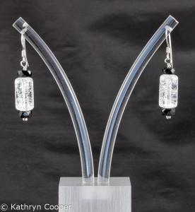 Quartz crystal earrings