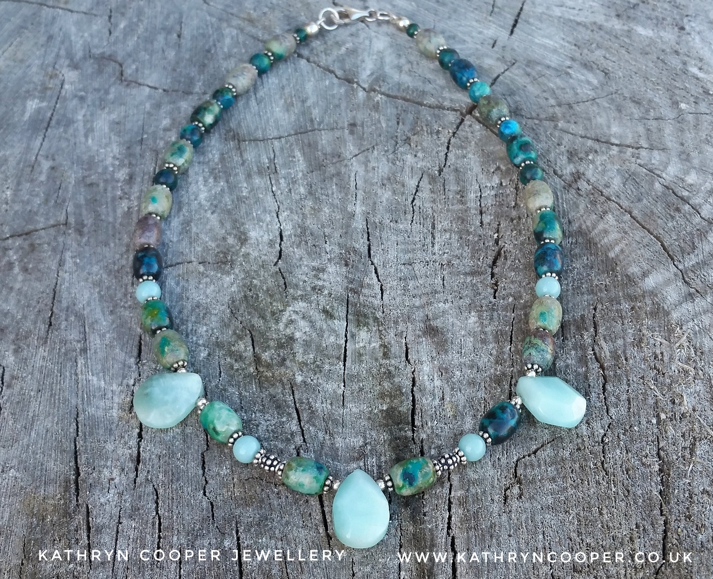Amazonite & Chrysocolla necklace
