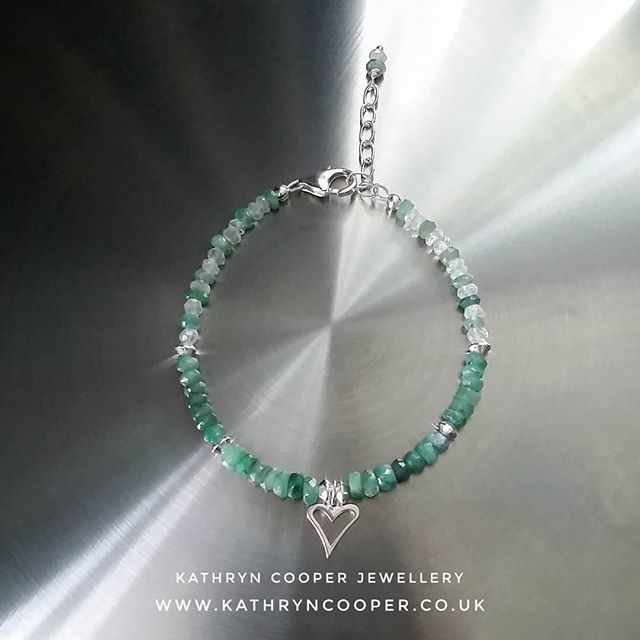Exquisite Emeralds - May's birthstone.  Cute Emerald and Moonstone bracelet, handcrafted and for sale now on my website (link in bio). 💚💚💚💚💚💚💚💚💚💚💚 . . . . . . . #emerald #emeraldjewellery #emeraldbracelet #maybirthstone  #colourfulbracelets #wishlists #uniquejewelry #buyhandmade #bohovibes #moonstone #moonstonejewellery #bespokejewellery #multigemstone #gemstonejewellery #jewelleryaddict #madeinbritain  #ukblogger  #kathryncooperjewellery  #myjewelleryfamily  #jewelleryinfluencer  #giftsforher  #jewellerylover #beadedjewelryofinstagram #beadedjewelryinfluencer #silverjewellery  #silverheart