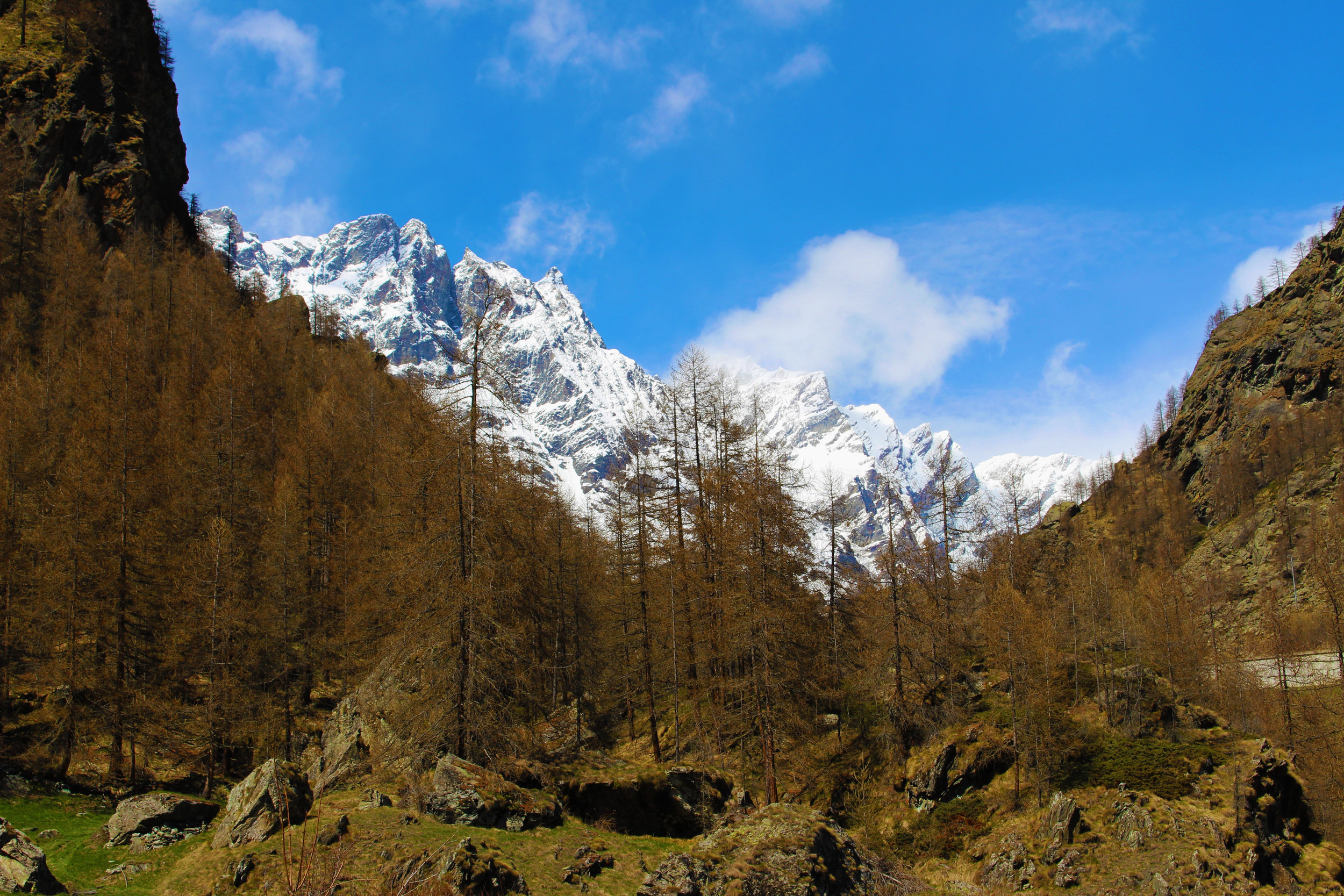 The Mountains of Breuil Cervinia.