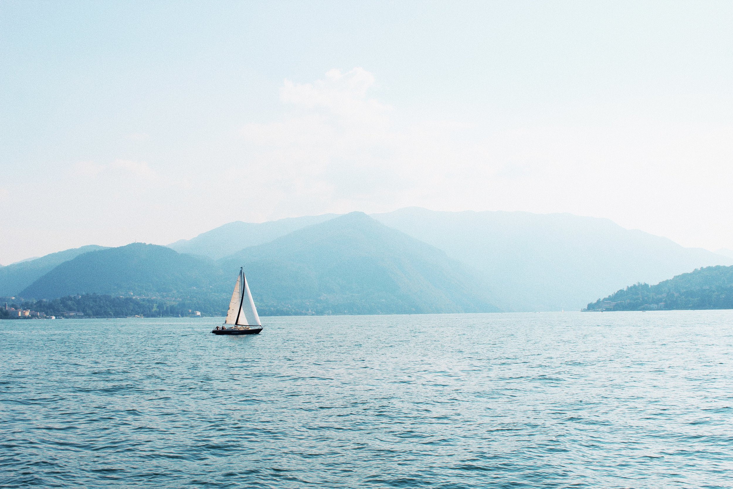 The waters of Lake Como.