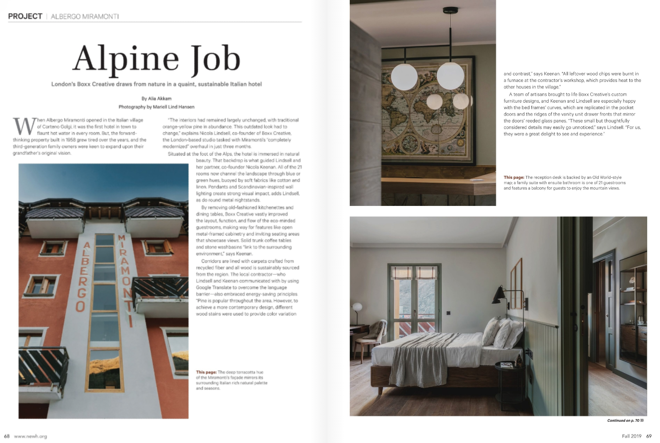 Image: The NewH Magazine 'Albergo Miramonti' Feature