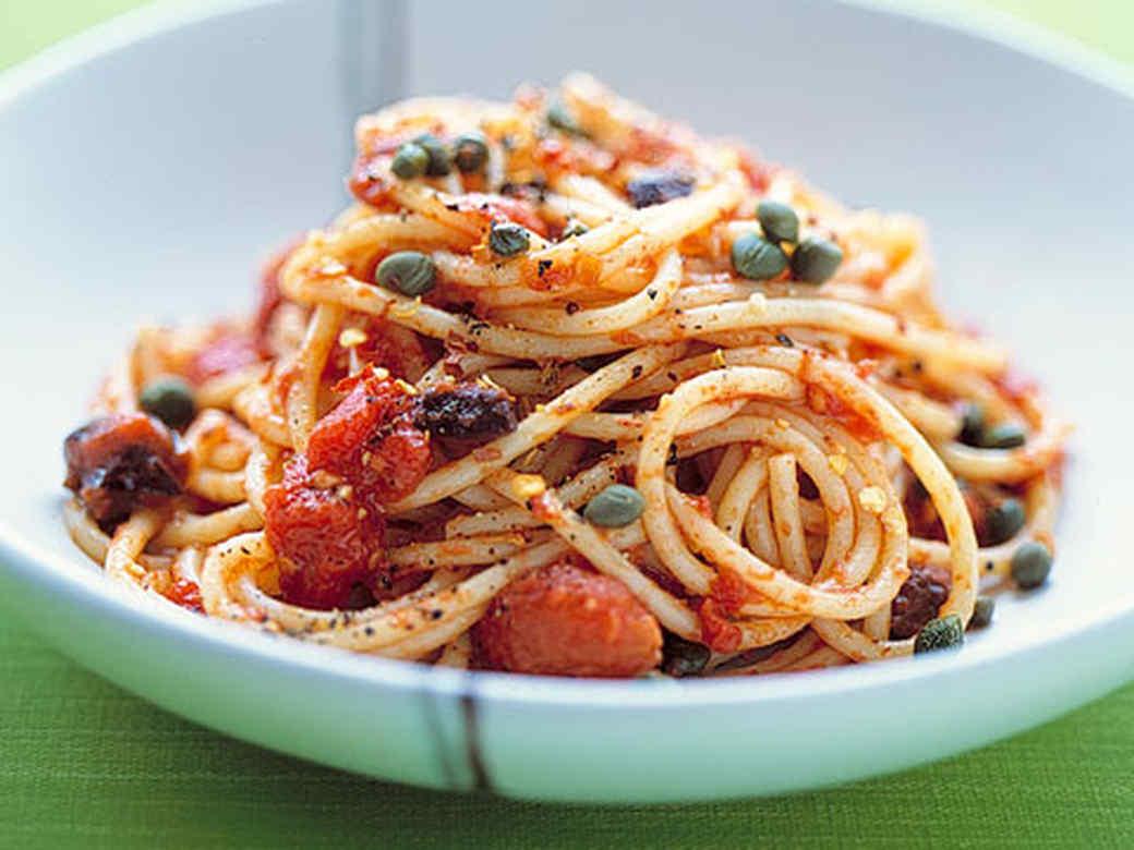Pasta Puttanesca - Source: Martha Stewart