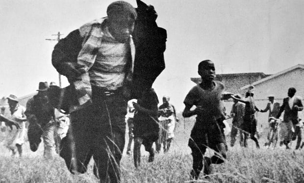 The Sharpeville massacre in1960, in which 69 black South Africans were sot dead by police Photograph: UIG via Getty Images