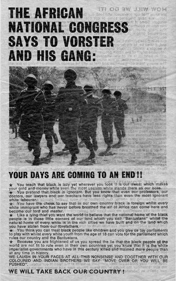 An ANC propaganda leaflet