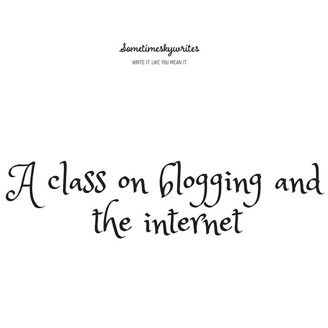 #WinterABC 9 : A class on blogging & the internet — Sometimeskywrites.  This kind of dedication need to flow in every other aspect of my life 🤣@AfroBloggers #bloggingchallenge #linkinbio #writerscommunity #writer #writersofinstagram