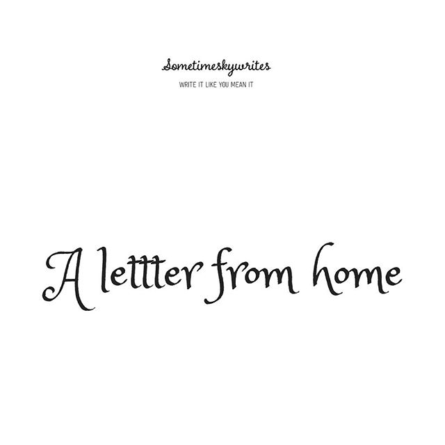 #WinterABC 11: A letter from Home — Sometimeskywrites. A bit late on this but it's here. 😊 #bloggingchallenge #linkinbio #writerscommunity #writer #writersofinstagram #blog #bloggingchallenge @AfroBloggers