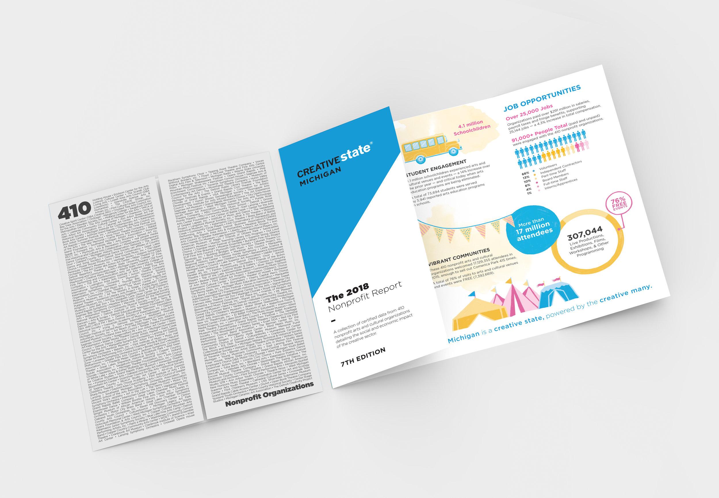2018 Nonprofit Report, Brochure  Creative Many Michigan
