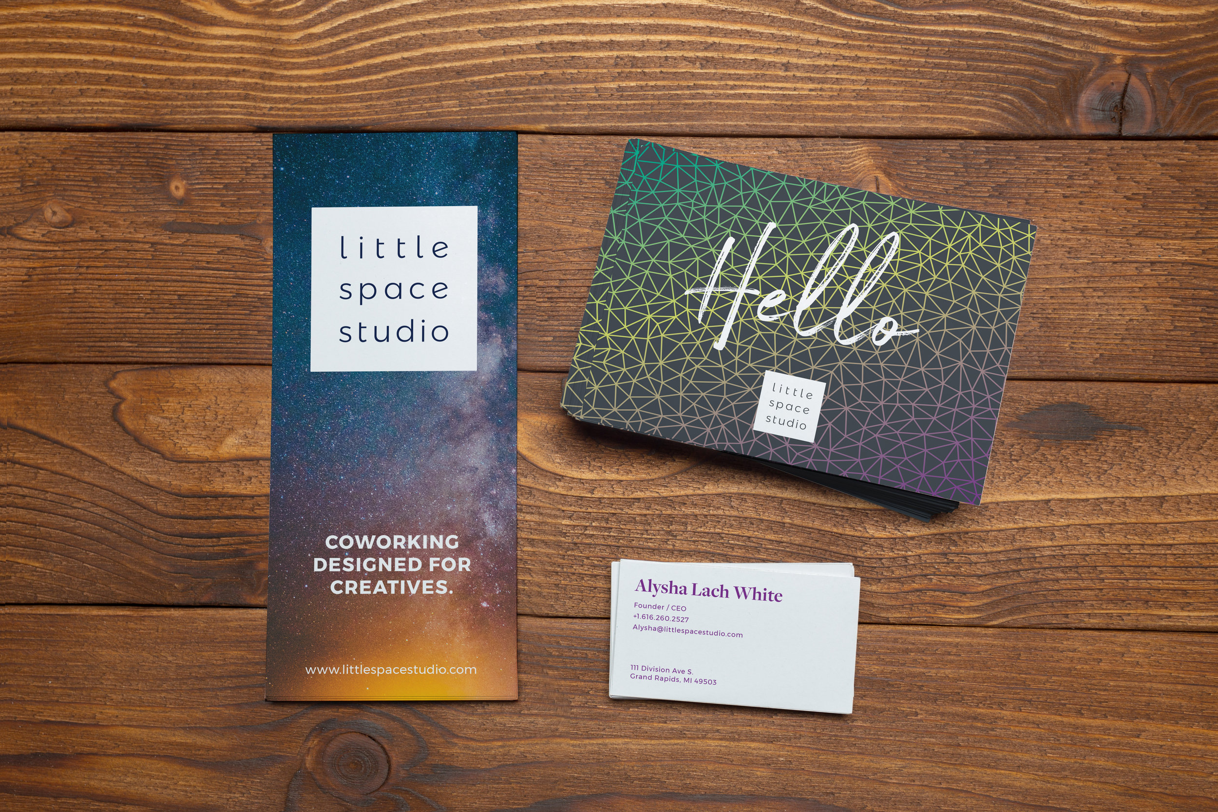 Brand Refresh, Print Collateral   Little Space Studio