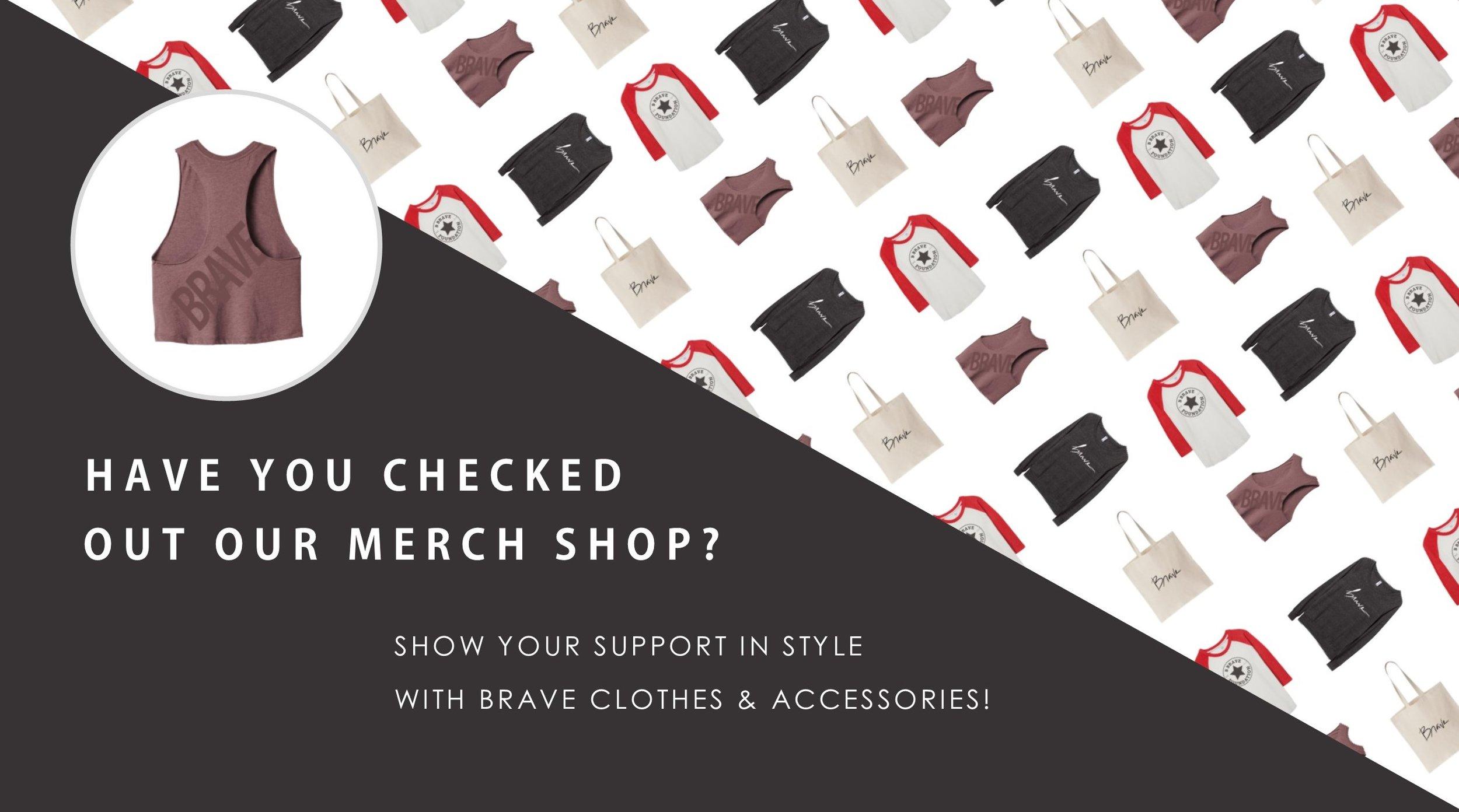 Shop B Brave merchandise