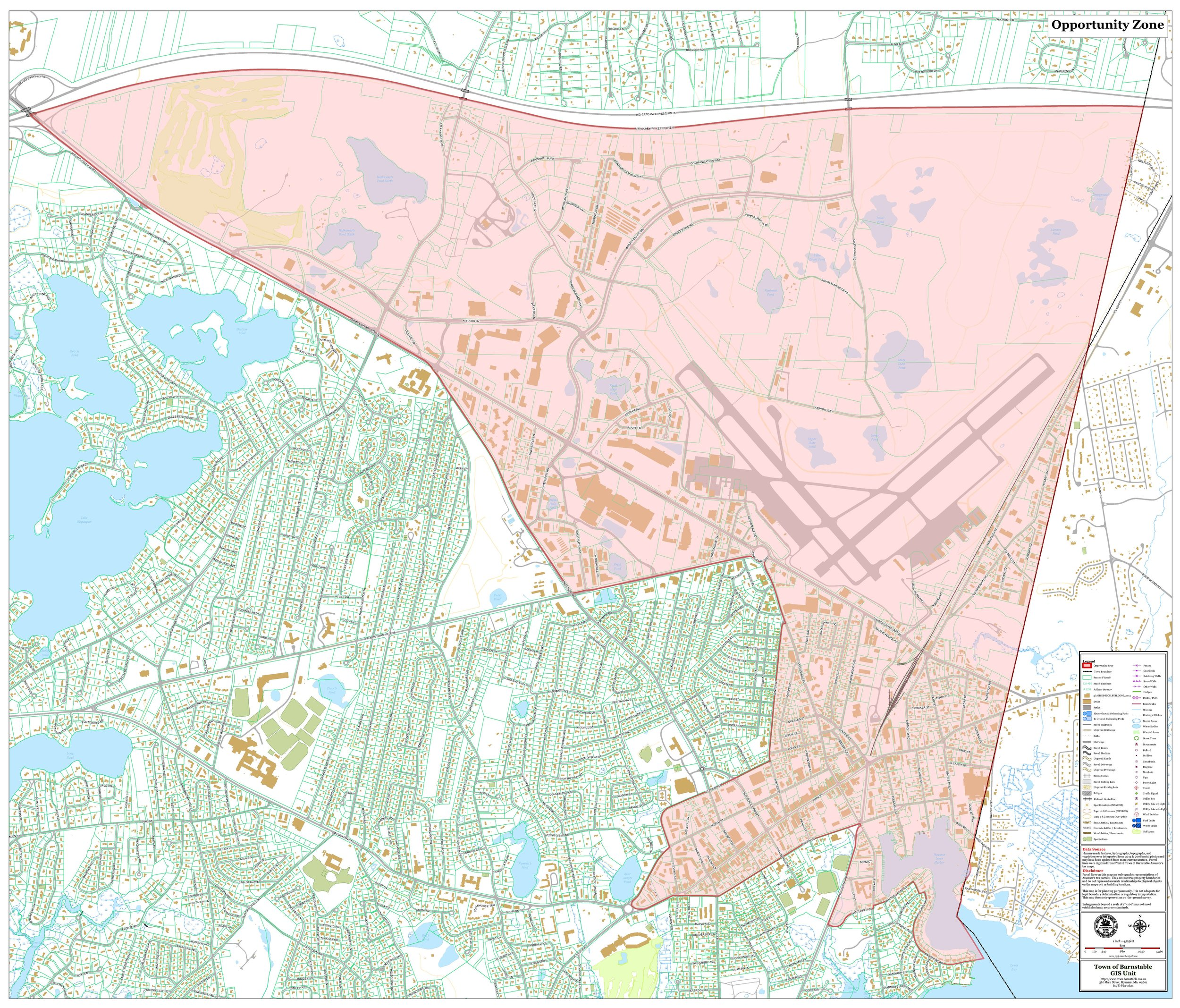 Hyannis Opportunity Zone Map-Census Tract 25001015300