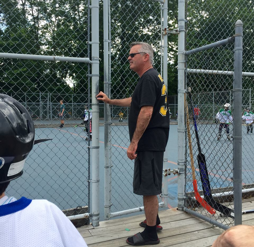 Michael Cleary (Our President) takes time to coach a local roller hockey team to victory.