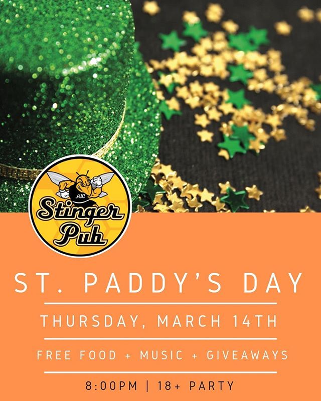 St Paddy's Party Thursday @8pm☘️☘️ Raffle prizes to win and free food! ☘️☘️