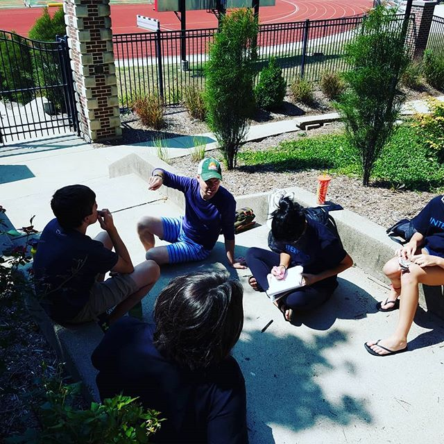 Mr Ryan Joyce discusses touranment etiquite and prep with our artists! #Interprod18 #interpfix #indianola #iowa #beautifulweather