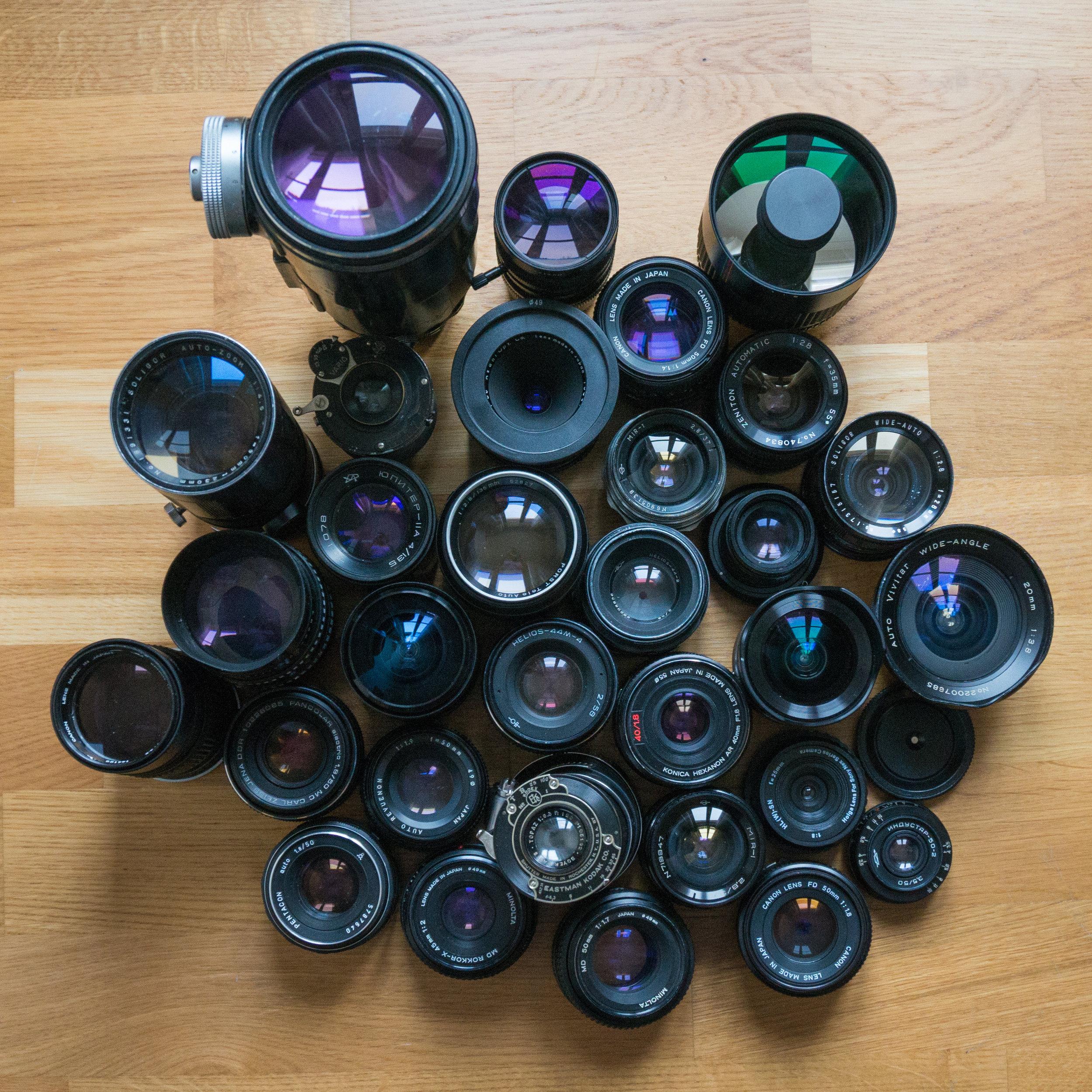 The Weird Lens Museum - A curiosity cabinet by Mathieu Stern
