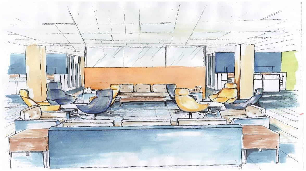 Commercial Interior Design of Huddle Space
