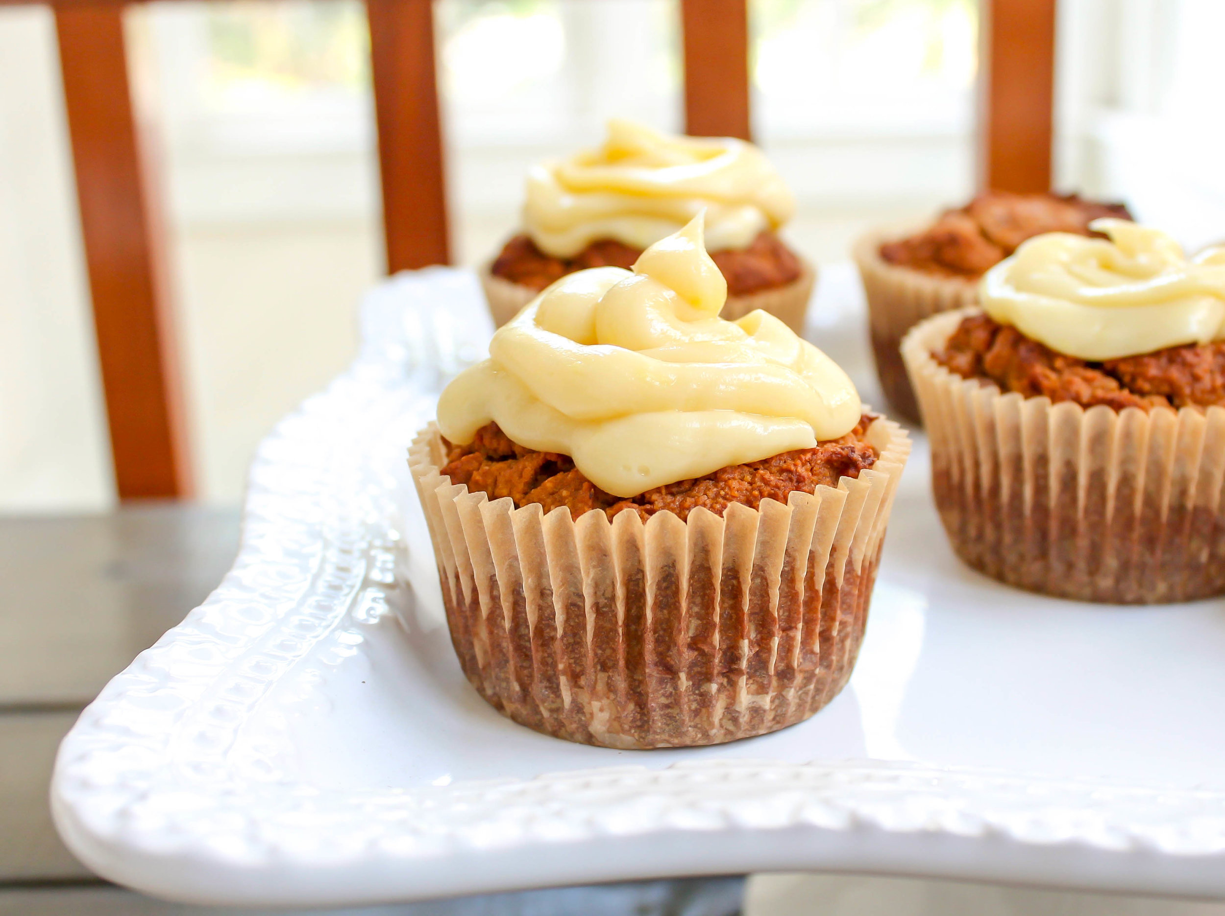 Pumpkin Muffins with Vanilla Ginger Frosting
