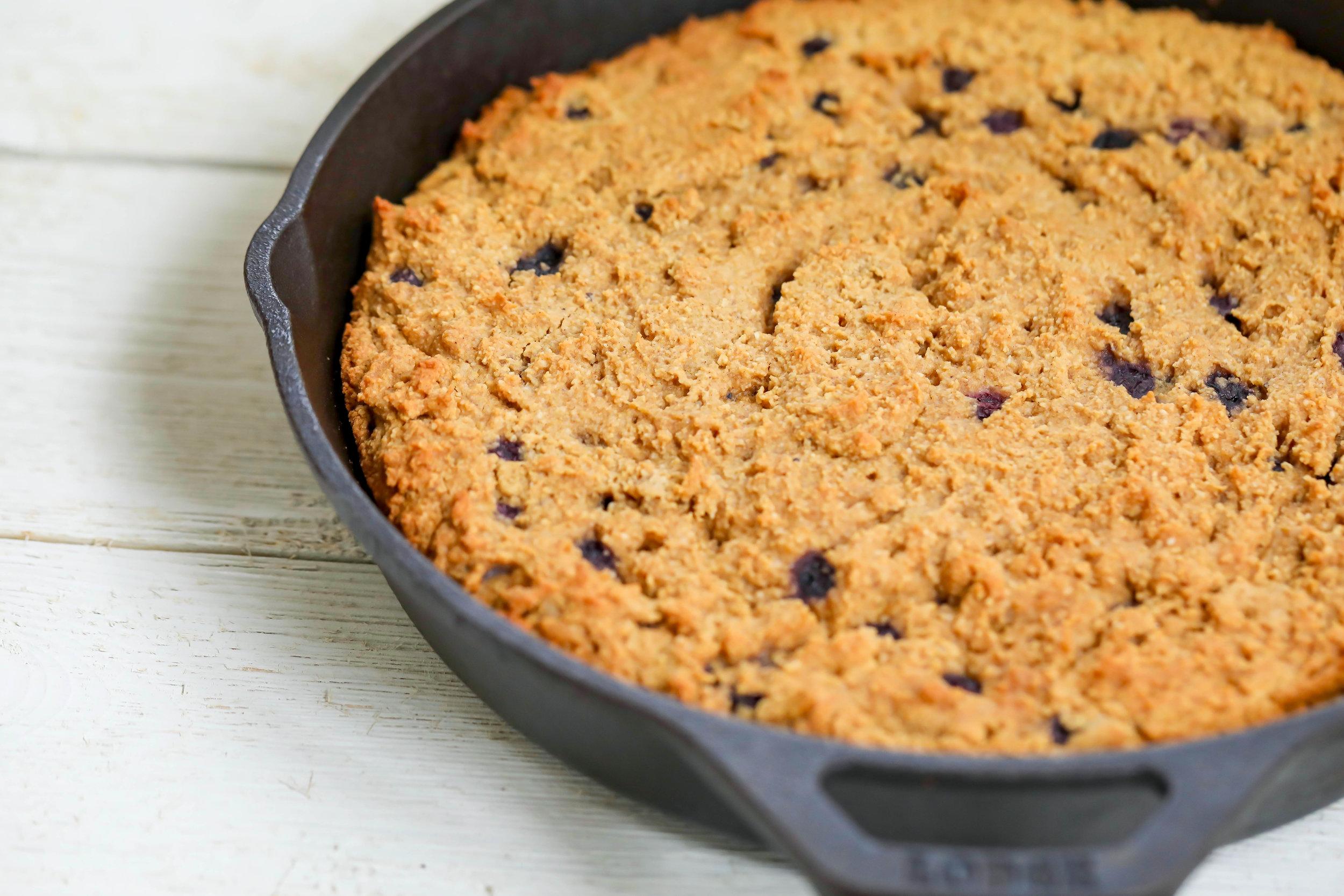 Grain-Free Blueberry Skillet Bread