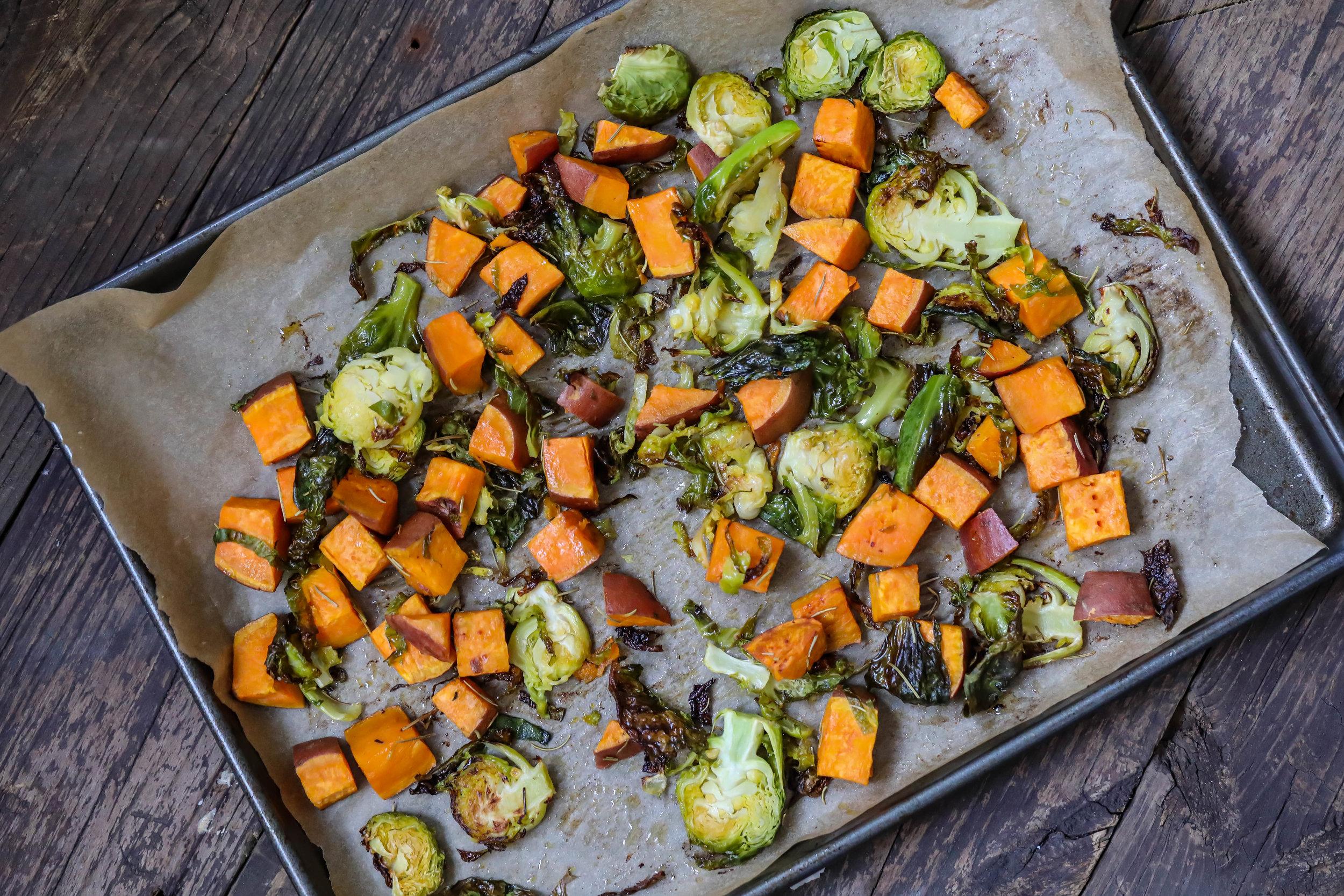 Garlic and rosemary roasted veggies