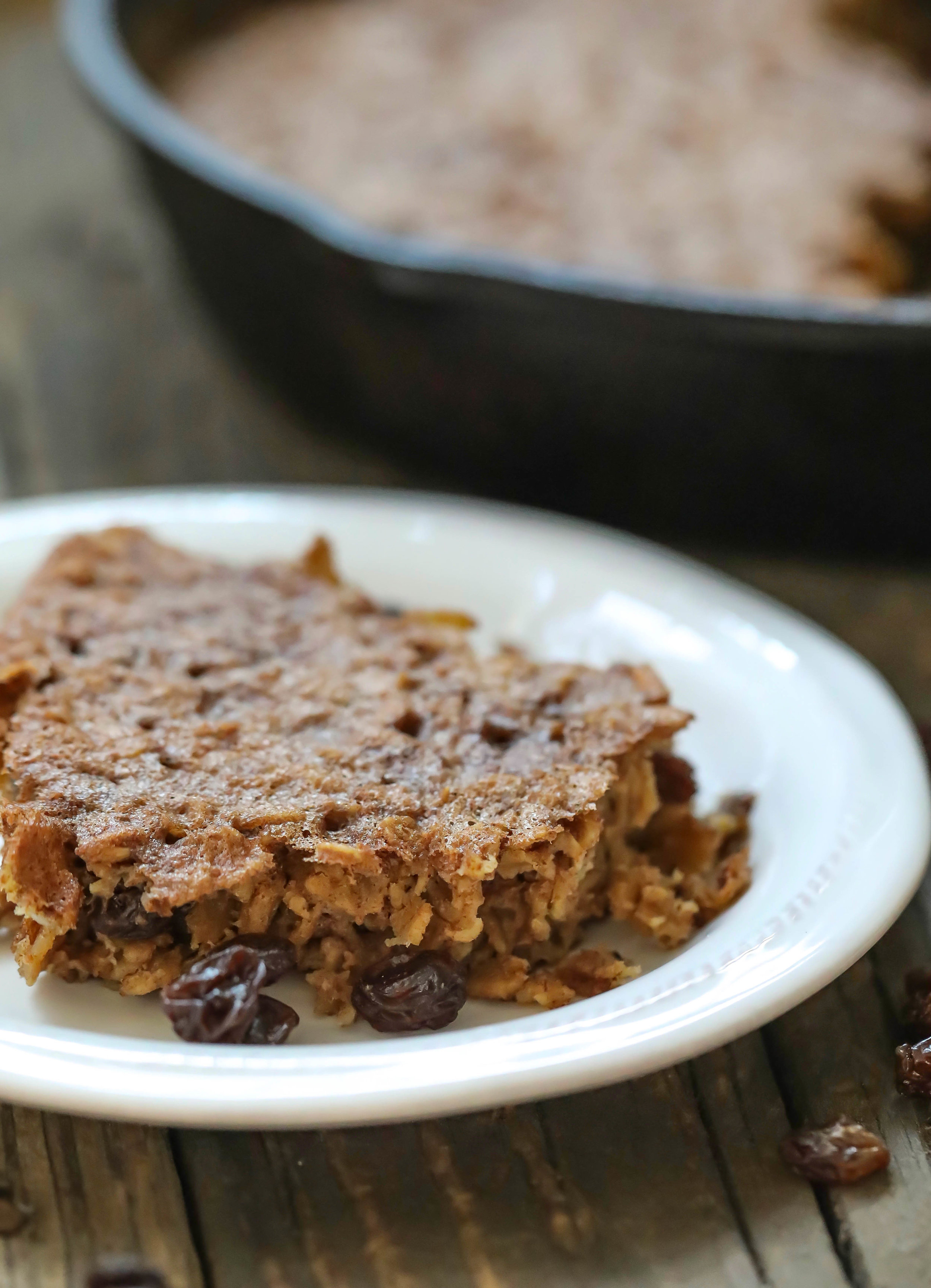 Cinnamon Raisin Oatmeal Bake