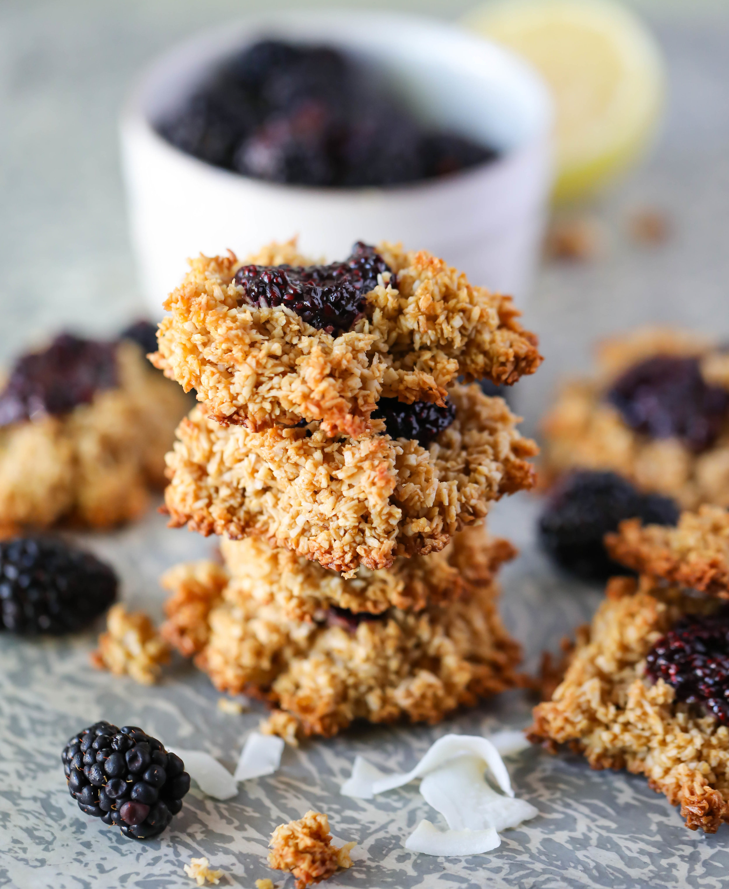Blackberry Chia Jam Coconut Cookies
