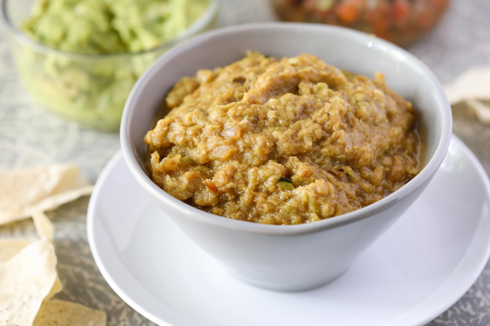 "Paleo Zucchini Refried ""Beans"""