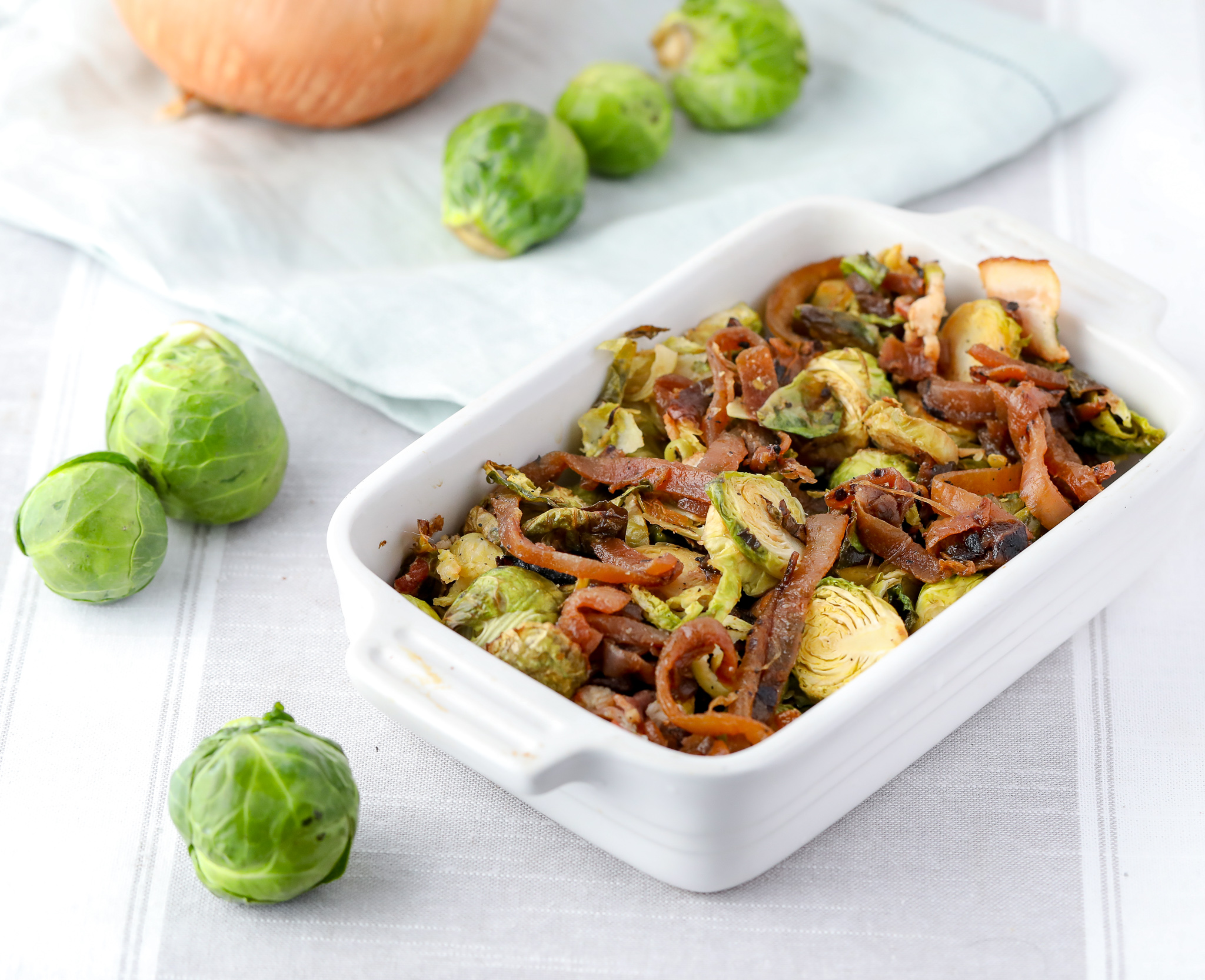 Brussels Sprouts with Caramelized Onions (Paleo)