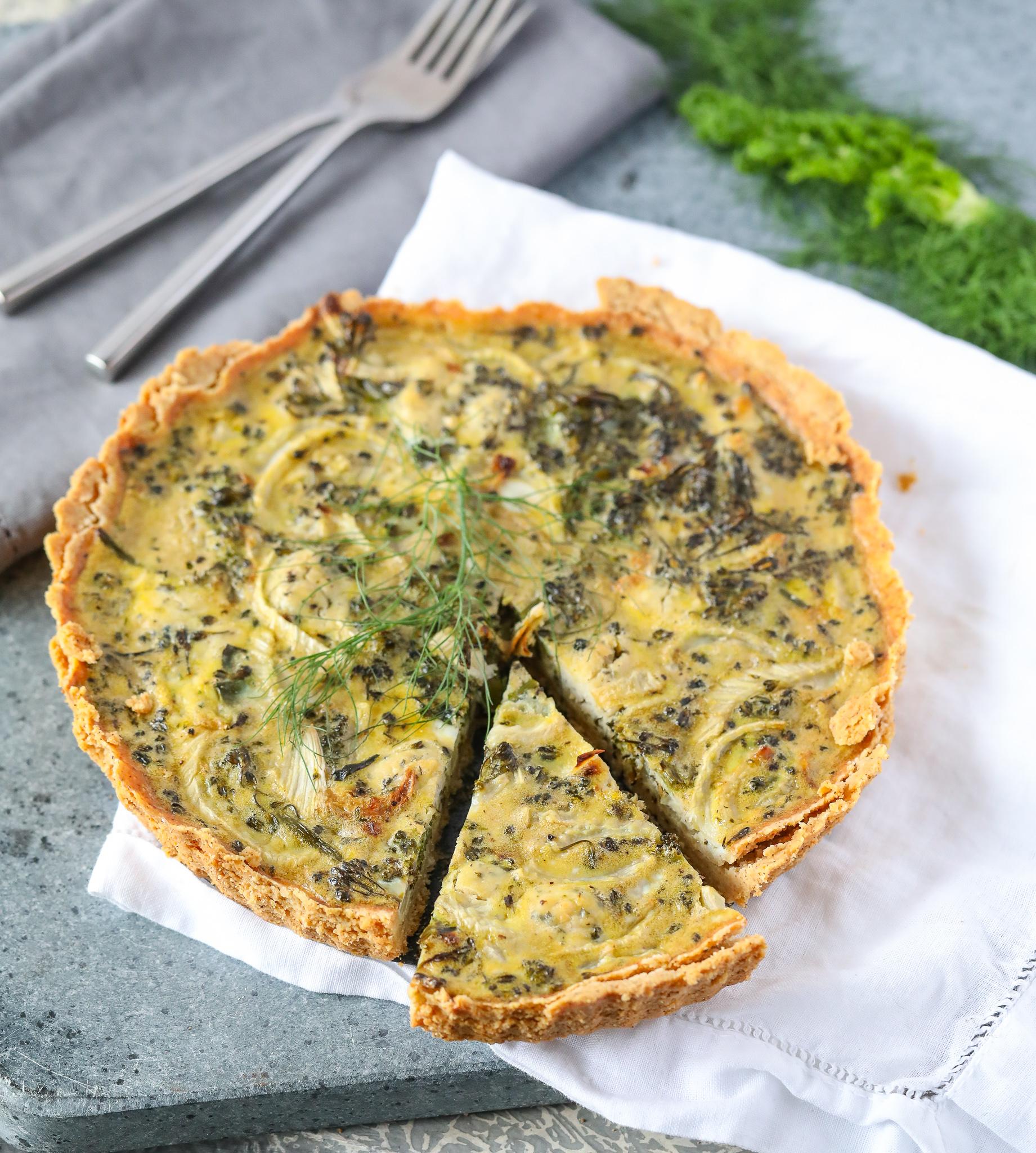 Roasted Fennel & Broccoli Egg Tart (Paleo, Grain-free)