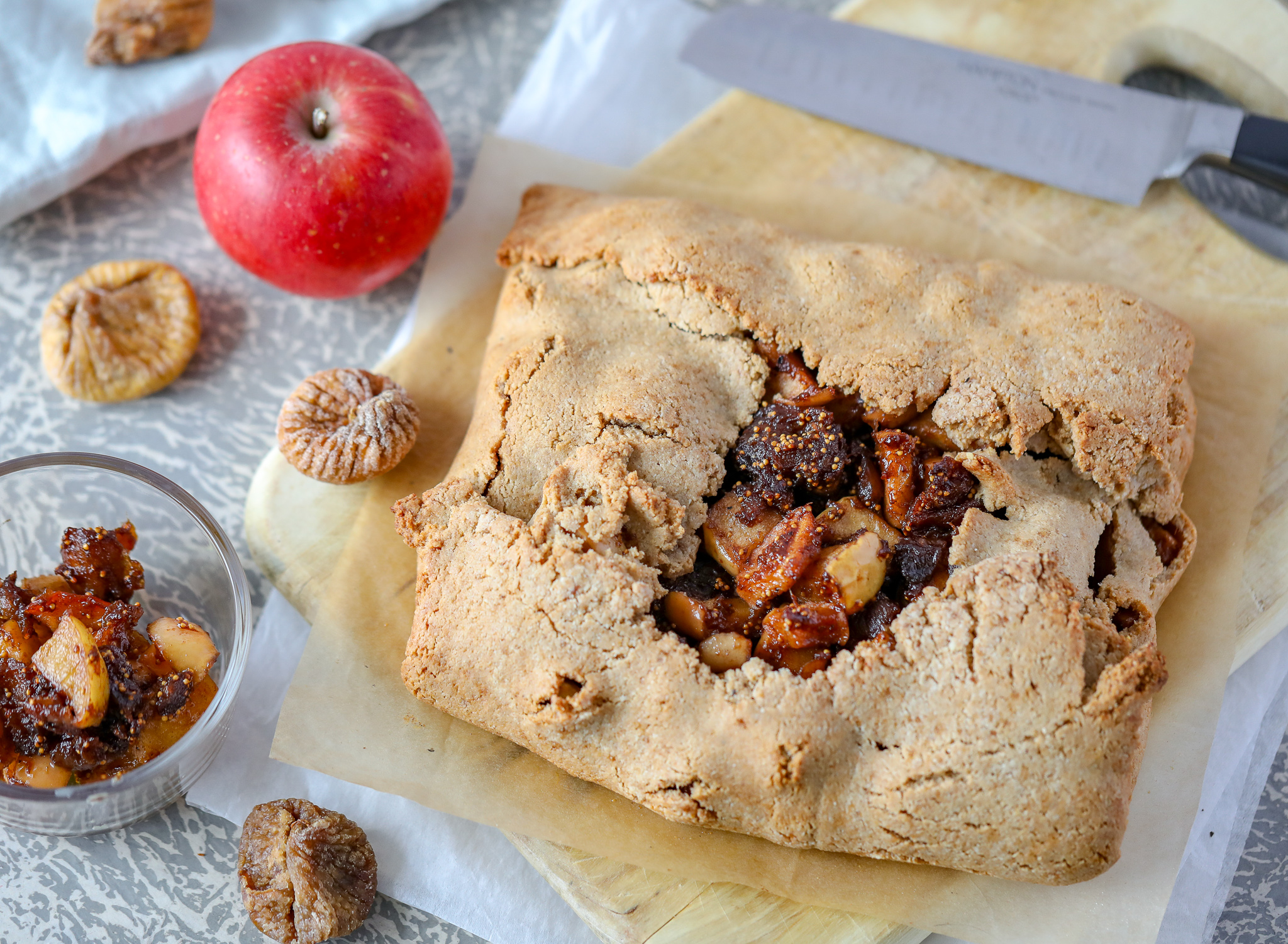 Apple-Fig Galette (Paleo, Grain-free)