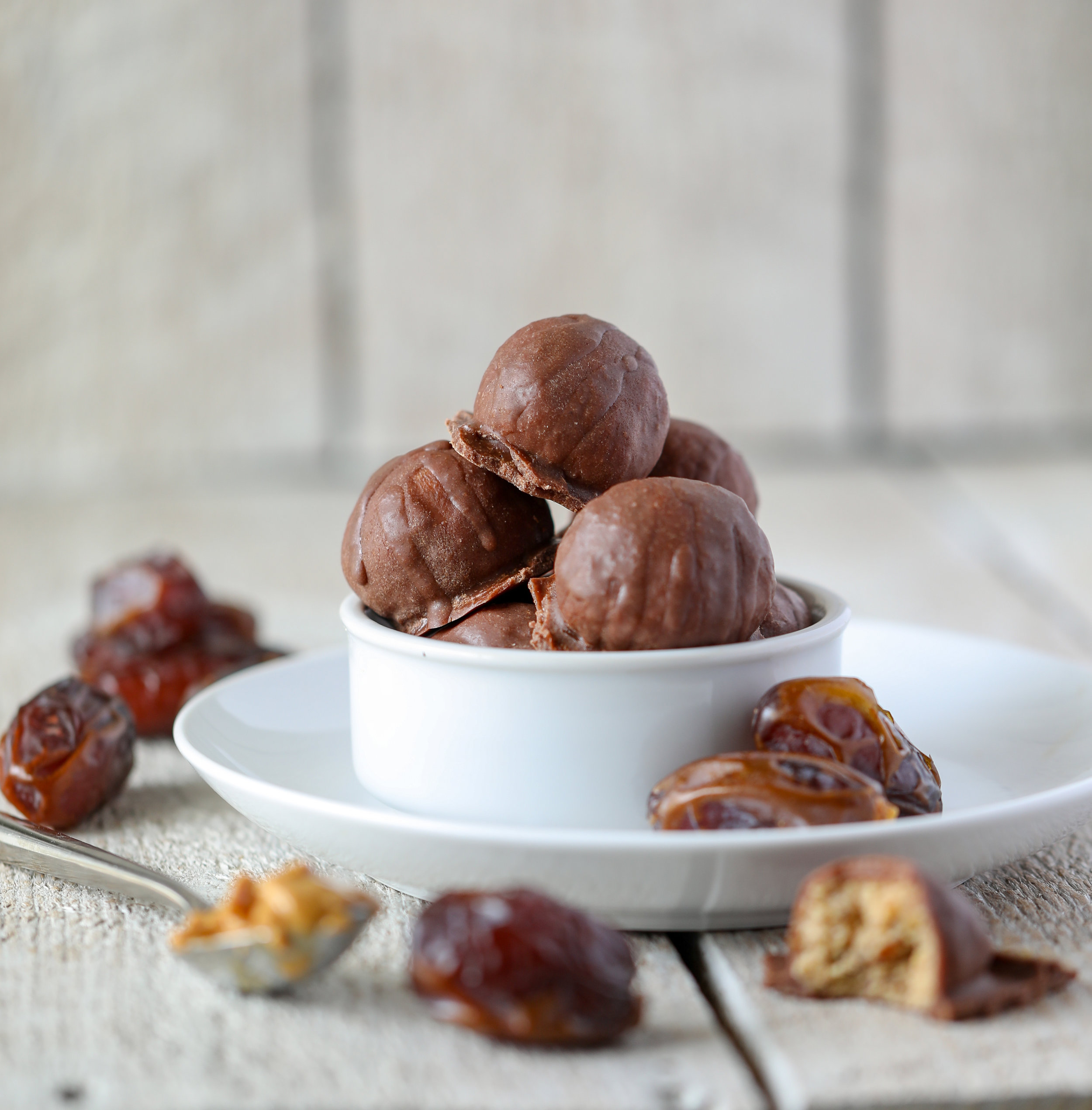 Vegan Chocolate Covered Energy Bites