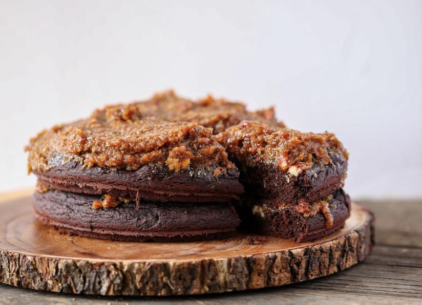 Healthy Gluten-free Vegan German Chocolate Cake