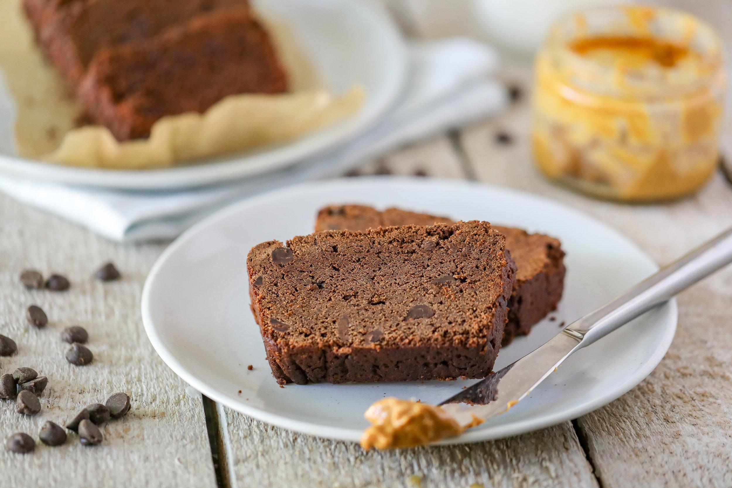 Healthy Gluten-free Vegan Chocolate Loaf