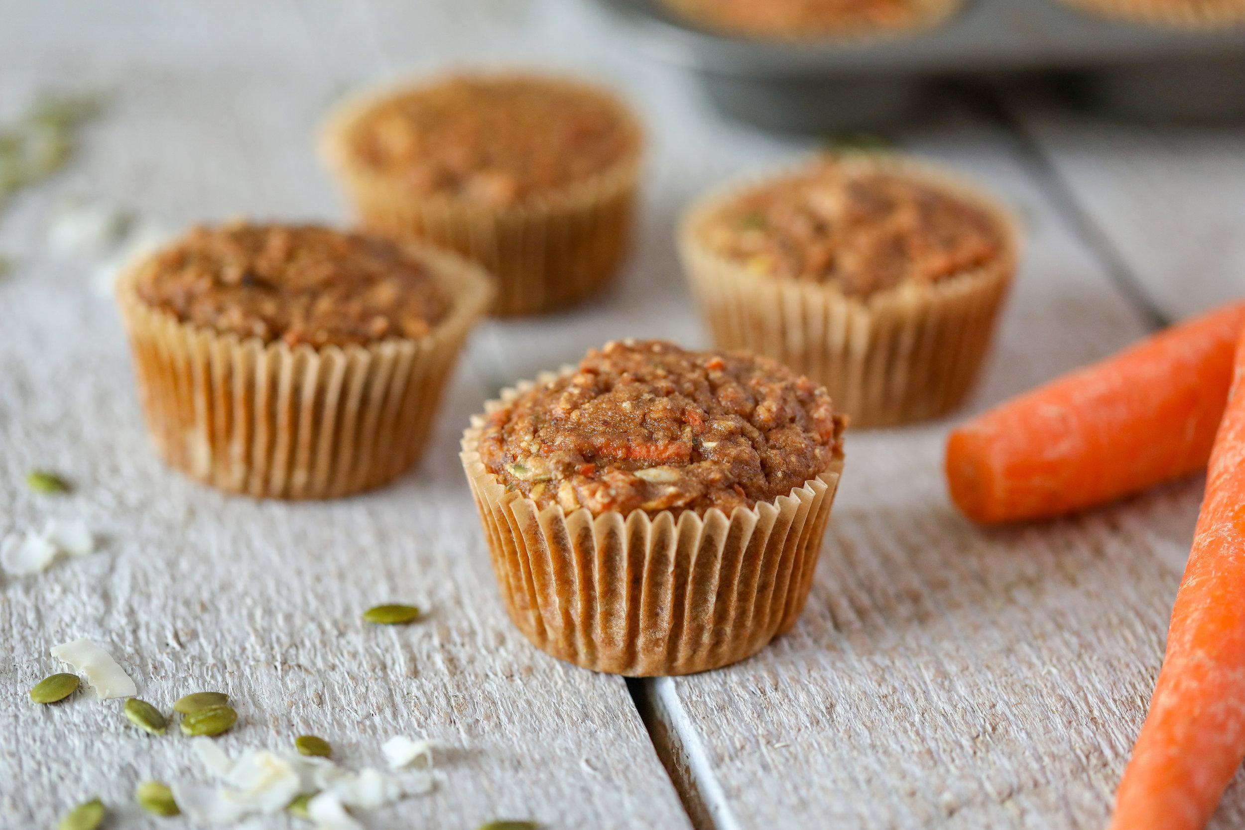 Healthy Gluten-free Vegan Morning Glory Muffins