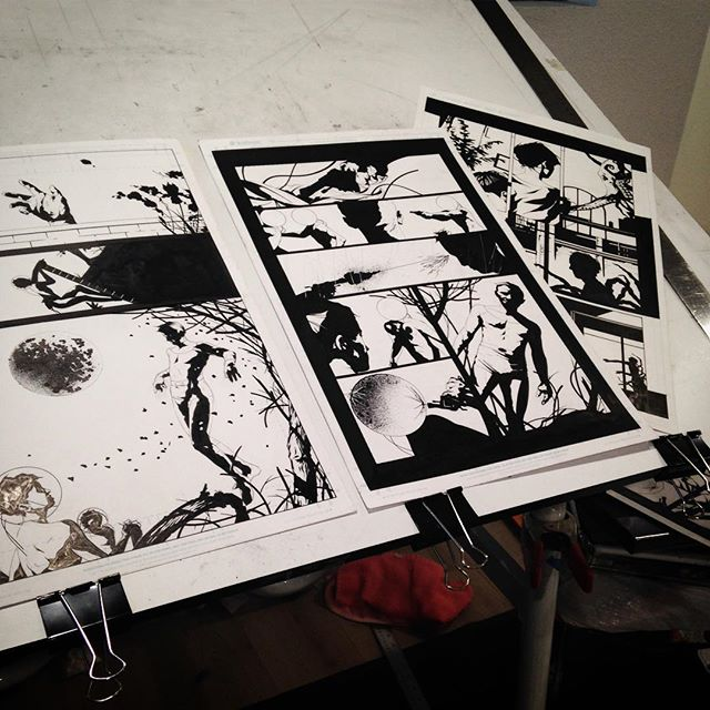 Late night.  #comicart #illustration #modernart #comicpages #comicpanels