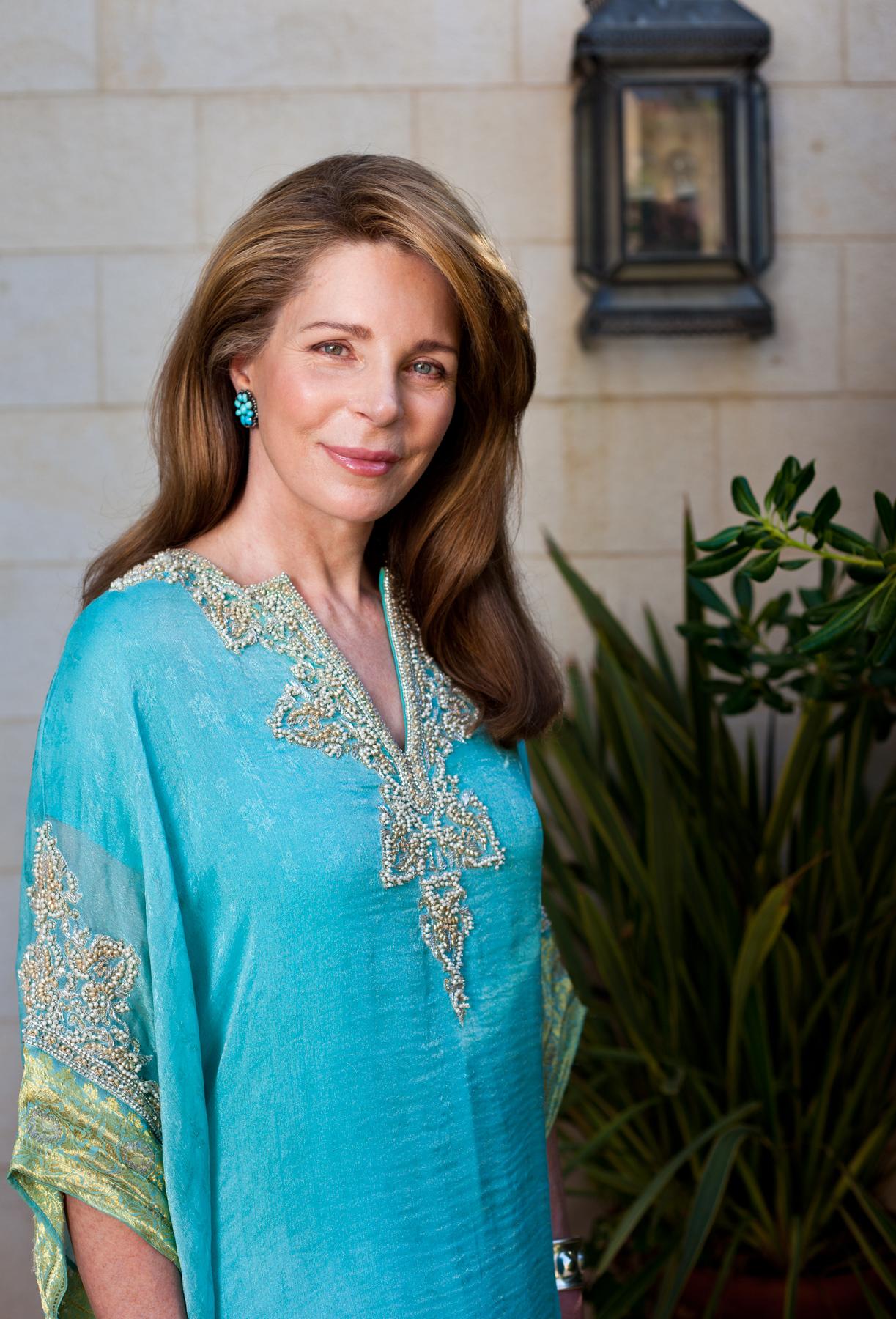 Her Majesty Queen Noor of Jordan, photographed for JO Magazine on July 21, 2011.