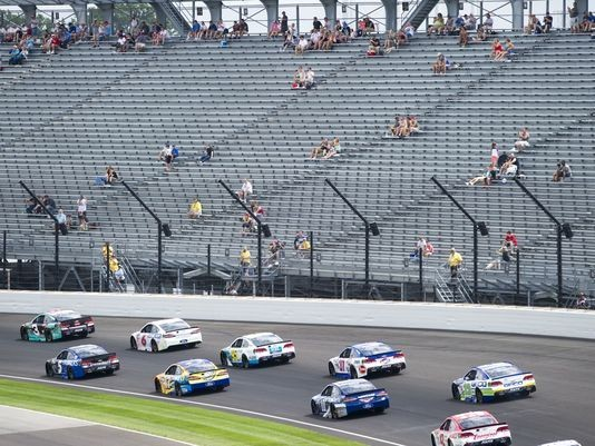 Massive turnout at the Brickyard this year... (Via IndyStar.com)